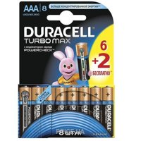 Фото Duracell AAA bat Alkaline 8шт Turbo Max 81417105