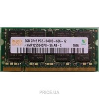 Фото Hynix 2GB SO-DIMM DDR2 800MHz (HYMP125S64CP8-S6)