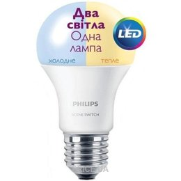 Philips LED Scene Switch E27 9.5-60W 3000K/6500K 230V A60 (929001155937)