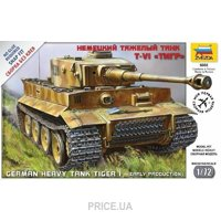 Фото ZVEZDA Немецкий тяжелый танк T-VI ТИГР / Pz.Kpfw.VI Tiger German heavy tank (ZVE5002)