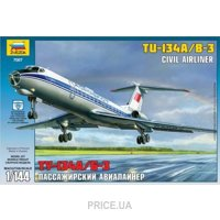 Фото ZVEZDA Пассажирский авиалайнер Ту-134 А/Б-3 1:144 (ZVE7007)
