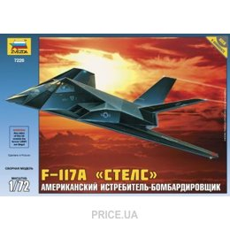 "ZVEZDA Американский истребитель-бомбардировщик F-117A ""Стелс"" (ZVE7226)"