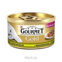 Фото Gourmet Gold с кроликом и печенью 0,085 кг