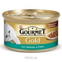 Фото Gourmet Gold с лососем и цыпленком 0,085 кг