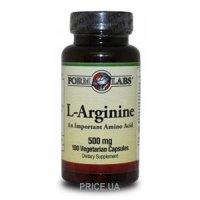 Фото Form Labs L-Arginine 500 mg 100 caps