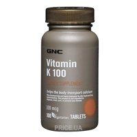 Фото GNC Vitamin K 100 100 tabs