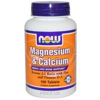 Фото Now Magnesium & Calcium 100 tabs