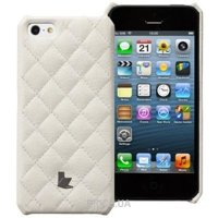 Фото JisonCase Quilted Wallet Case White for iPhone 5/5S (JS-IP5-01G00)