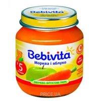 Фото Bebivita Пюре Яблоко и морковь, 100 г