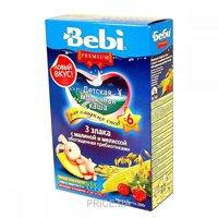 Фото Bebi Premium Каша молочная 3 злака с малиной и мелиссой 200 г