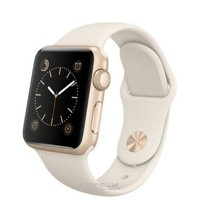 Фото Apple Watch Sport 38mm Gold Aluminum Case with Antique White Sport Band (MLCJ2)