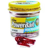 Фото Berkley Мотыль Powerbait Blood Worms (Малый) 150pcs