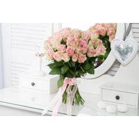 """Фото Доставка цветов Букет из 51 розы """"Розовое облако"""""""