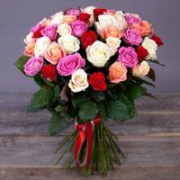 """Фото Доставка цветов Букет из 51 розы """"Весеннее признан"""