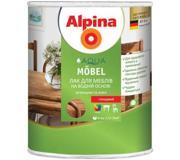 Цены на ALPINA Лак Alpina Aqua Mobel глянцевий 2.5 л Предн, фото