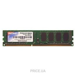 Фото Patriot 2GB DDR3 1600MHz (PSD32G16002)
