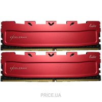 Фото Exceleram 16GB (2x8GB) DDR4 2800MHz Red Kudos (EKRED4162817AD)
