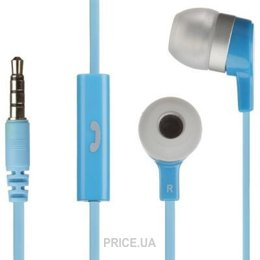 Наушник Наушники KitSound Entry Mini In-Ear Headphones with Mic Blue (KSMINIBL)