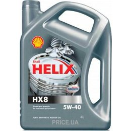 Моторное масло SHELL Helix HX8 5W-40 4л