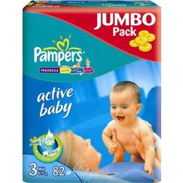 Подгузник Pampers Active Baby Midi 3 (82 шт.)