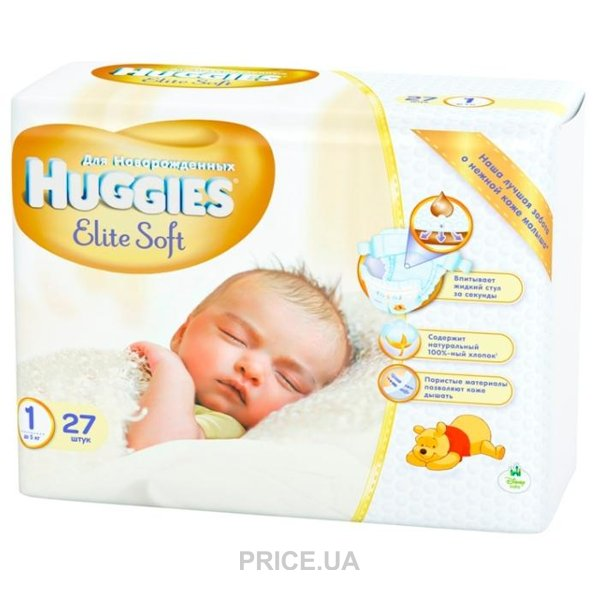 Huggies Elite Soft 1 (27 шт.)  Купить в Украине - Сравнить цены на ... 53837bdc3d4