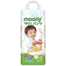 bd42ccc87b2b Moony Подгузники-трусики для мальчиков XL 12-17 кг (38 шт.)  Купить ...