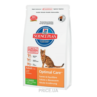 Фото Hill's Science Plan Feline Adult Optimal Care with Rabbit 10 кг
