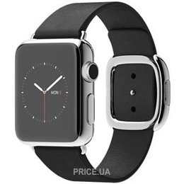 Фото Apple Watch 38mm Stainless Steel Case with Black Modern Buckle (MJYL2)