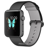 Фото Apple Watch Sport 42mm Space Gray Aluminum Case with Black Woven Nylon (MMFR2)