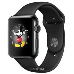 Фото Apple Watch Series 2 38mm Space Black Stainless Steel Case with Black Sport Band (MP492)