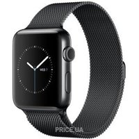 Фото Apple Watch Series 2 38mm Space Black Stainless Steel Case with Space Black Milanese Loop (MNPE2)