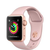 Фото Apple Watch Series 3 (GPS) 42mm Gold Aluminum w. Pink Sand Sport B. - Gold (MQL22)