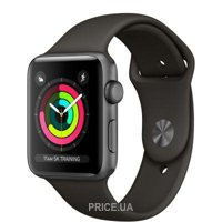 Фото Apple Watch Series 3 (GPS) 42mm Space Gray Aluminum w. Gray Sport B. - Space Gray (MR362)