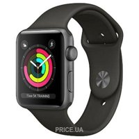 Фото Apple Watch Series 3 (GPS) 38mm Space Gray Aluminum w. Gray Sport B. - Space Gray (MR352)
