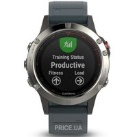 Фото Garmin Fenix 5 Silver With Granite Blue Band (010-01688-01)