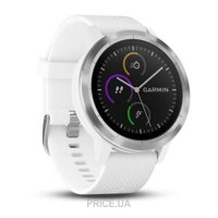 Фото Garmin Vivoactive 3 White with Stainless Hardware (010-01769-21)