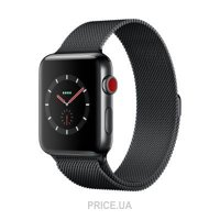 Фото Apple Watch Series 3 (GPS) 42mm Space Black Stainless Steel w. Space Black Milanese L. (MR1L2)