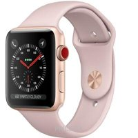 Фото Apple Watch Series 3 (GPS) 42mm Gold Aluminum w. Pink Sand Sport B. (MQK32)