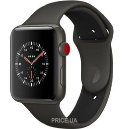 Apple Watch Series 3 (GPS) 42mm Gray Ceramic w. Gray/Black Sport B. (MQKE2)