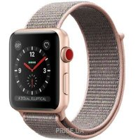 Фото Apple Watch Series 3 (GPS) 42mm Gold Aluminum w. Pink Sand Sport L. (MQK72)
