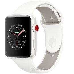 Apple Watch 42mm White Ceramic Case with Soft White/Pebble Sport (MQKD2)