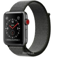 Фото Apple Watch Series 3 38mm Space Gray Aluminum Case with Dark Olive Sport Loop (MQJT2)