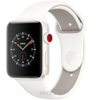 Фото Apple Watch Series 3 38mm (GPS) White Ceramic Case with Soft White/Pebble Sport Band (MQJY2)