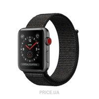Фото Apple Watch Series 3 (GPS Cellular) 38mm Space Gray w. Black Sport Loop (MRQE2)