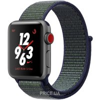 Фото Apple Watch Series 3 Nike+ GPS + LTE 38mm Space Gray Aluminum with Mig Fog Sport Loop (MQMD2)