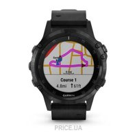 Фото Garmin Fenix 5 Plus Sapphire, Black with Black Leather Band (010-01988-06)