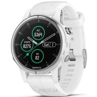 Фото Garmin Fenix 5S Plus Sapphire White with White Band (010-01987-01)