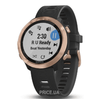 Фото Garmin Forerunner 645 Music Black with Rose Gold Hardware (010-01863-32)