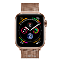 Фото Apple Watch Series 4 (GPS + Cellular) 44mm Gold Stainless Steel Case with Gold Milanese Loop (MTV82)