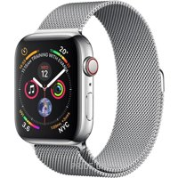 Фото Apple Watch Series 4 (GPS + Cellular) 40mm Stainless Steel Case with Milanese Loop (MTUM2)